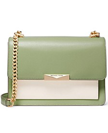 Jade Large Gusset Leather Shoulder Bag