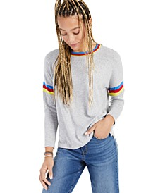 Striped Crewneck Knit Top, Created for Macy's