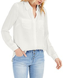INC Petite Satin Shirt, Created for Macy's