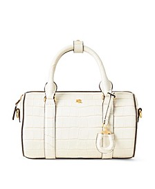 로렌 랄프로렌 Lauren Ralph Lauren Leather Small Satchel,Vanilla