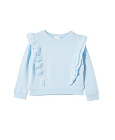 Little Girls Fenella Frill Crew Sweater
