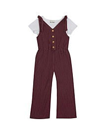 Big Girls Knit Jumpsuit with T-shirt