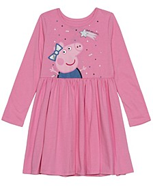 Little Girls Peppa Holiday Long Sleeve Dress