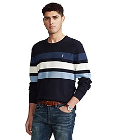 Men's Striped Cotton Crewneck Sweater