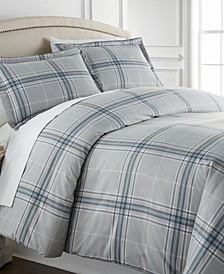 Ultra-Soft Plaid Down Alternative 3 Piece Comforter Set, Full/Queen