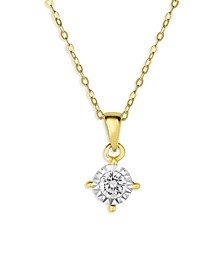 Diamond Solitaire Pendant Necklace (3/8 ct. t.w.) in 14k Yellow Gold