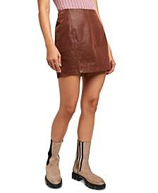 Modern Femme Faux-Leather Mini Skirt