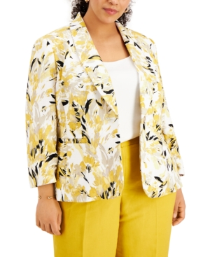 Plus Size Printed Jacket