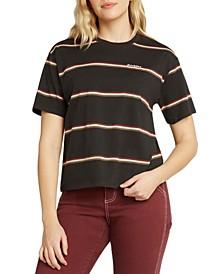 Juniors' Striped Tomboy T-Shirt