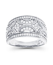 Cubic Zirconia Pave Designed Ring