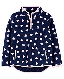 Big Girls Heart Fleece Pullover