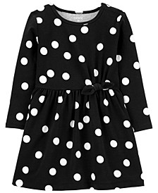Toddler Girls Polka Dot Jersey Dress