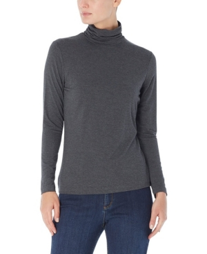 Long Shirred Neck Pullover Top