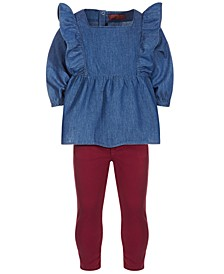 Toddler Girls 2-Piece Chambray Tunic & Leggings Set