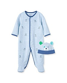 Baby Boys Buddies Footie and Hat Set