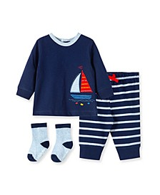 Baby Boys Sailboat Jogger Set