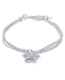 Silver Plated Starfish Charm Bracelet