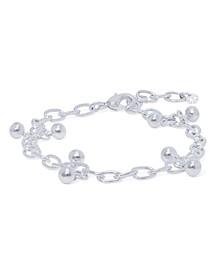 Silver Plated Bead Open Link Bracelet