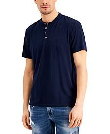 Men's Short-Sleeve Ribbed Henley, Created for Macy's