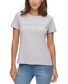 Cotton Embellished Logo T-Shirt