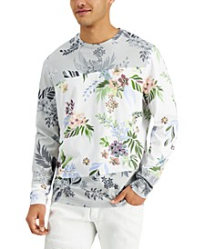 INC Men's Pieced Colorblocked Floral Graphic T-Shirt, Created for Macy's