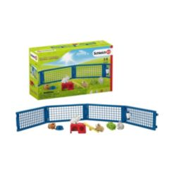 Schleich, Farm World, Rabbit and Guinea Pig Hutch Playset with Toy Figurines