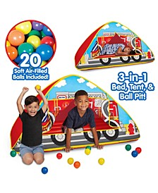 Little Tikes Fire Truck 3-in-1 Bed, Tent, and Ball Pit