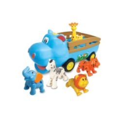 Kiddieland Happy Hippon Friends Toy Vehicle with Animal Figures