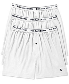 Polo Ralph Lauren Men's 3-Pk. Cotton Classic Knit Boxers