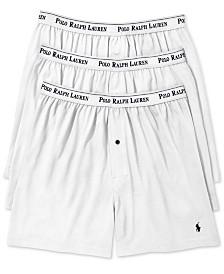 Polo Ralph Lauren Men's 3-Pk. Cotton Classic Knit Boxers