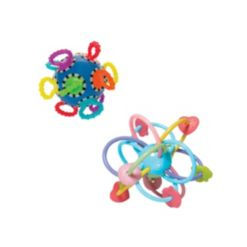 Manhattan Toy Company Click Clack Ball and Manhattan Ball Baby Rattle and Teether Set