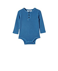 Baby Boys The Long Sleeve Waffle Bubbysuit