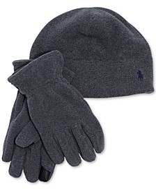 Men's Polartec Fleece Hat & Gloves Set