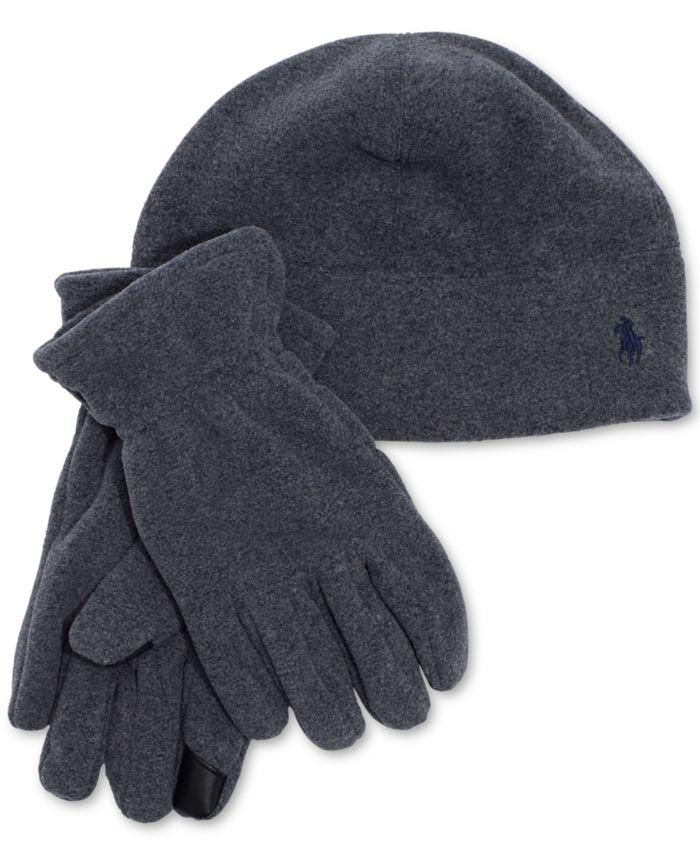 Polo Ralph Lauren Men's Polartec Fleece Hat & Gloves Set  & Reviews - Hats, Gloves & Scarves - Men - Macy's