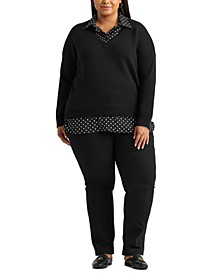 Plus Size Layered-Look Sweater