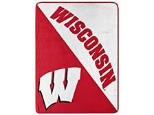 Wisconsin Badgers Micro Raschel Halftone Blanket