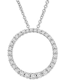 "Diamond Circle 20"" Pendant Necklace (1/2 ct. t.w.) in Platinum, Created for Macy's"