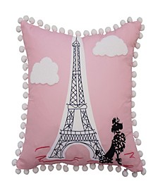 "Kids Ooh La La Decorative Pillow, 15"" x 15"""
