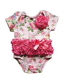 Baby Girls Rose Pattern Bodysuit