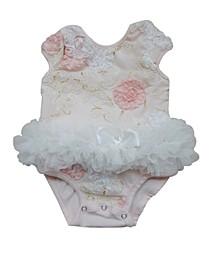 Baby Girls Rose Flower Bodysuit