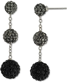 Crystal Graduated Ball Ombré Drop Earrings in Sterling Silver, Created for Macy's