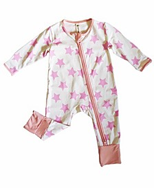 Baby Girls Viscose from Bamboo 2 Way Zippy Coverall