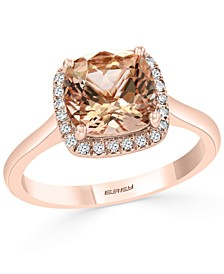 EFFY® Morganite (2-1/6 ct. t.w.) & Diamond (1/10 ct. t.w.) Ring in 14k Rose Gold