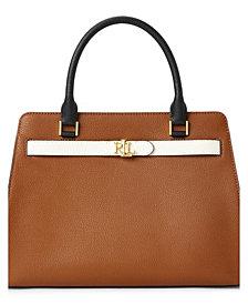Lauren Ralph Lauren Leather Medium Fenwick Satchel