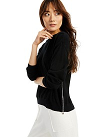 Modern Lounge Side-Zippered Sweater, Created for Macy's