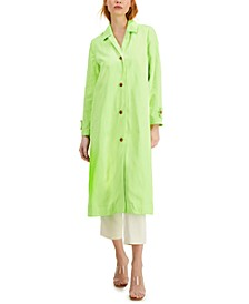 Petite Pleated Trench Coat, Created for Macy's