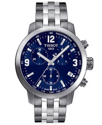Men's Swiss Chronograph Prc200 Stainless Steel Bracelet Watch 41mm T0554171104700 by Tissot