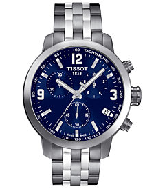 Tissot Men's Swiss Chronograph PRC200 Stainless Steel Bracelet Watch 41mm T0554171104700