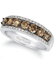 Chocolatier® Ring featuring  (7/8 ct. t.w.) Chocolate Diamonds®,  (1/6 ct. t.w.) Vanilla Diamonds® set in 14K Vanilla Gold®