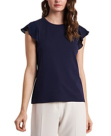 Suzi Flutter-Sleeve Top, Created for Macy's